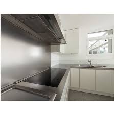 tole inox pour cuisine custom cut stainless steel splashback with a rectangular