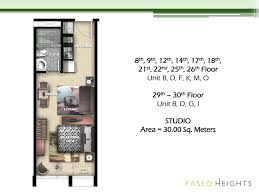 30 Sqm by For Sale Paseo Heights In Makati Cbd Below Market Price Fort