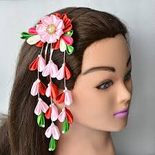 japanese hair ornaments how to make a headband with japanese ribbon hair accessories