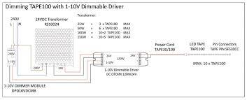 1 10v dimmable driver constant voltage white 10v 24v 50w