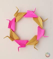crane wreath series nr 1 u2013 origami tutorials