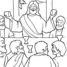 Image Gallery Last Supper Coloring Page Last Supper Coloring Page