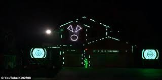 enthusiasts synchronize spooky light show to