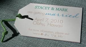save the date luggage tags paper and thread save the date luggage tags hawaiian style