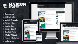templates blogger material design masign simple responsive material design blogger templates