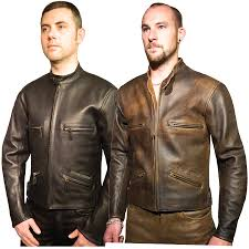 mens leather moto jacket men u0027s retro lightweight leather motorcyle jacket