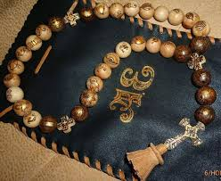personalized rosary a personalized rosary with paintings or pyrography oberig shop
