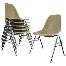 stacking dining room chairs original vintage charles u0026 ray eames dss stacking chairs for