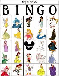 bingo de personajes disney para imprimir gratis paper doll