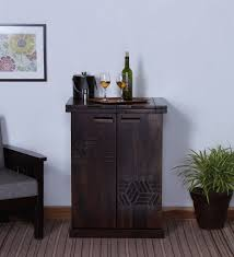 Small Bar Cabinet Buy Mayville Small Bar Cabinet In Warm Chestnut Finish By