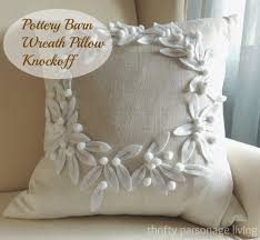Pottery Barn Throw Thrifty Parsonage Living Pottery Barn Wreath Pillow Knockoff