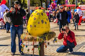 big easter eggs festival of easter eggs 2017 in kyiv ukraine travel