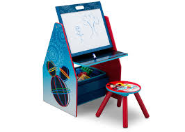 mickey mouse activity center easel desk with stool u0026 toy