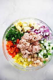 Mediterranean Vegan Kitchen Mediterranean Tuna Salad With No Mayo Lexi U0027s Clean Kitchen