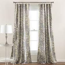Yellow And Grey Curtain Panels Amazon Com Lush Decor Forest Window Curtain Panel Set Of 2 84
