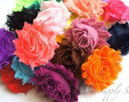 shabby flowers grab bag of 5 10 or 15pcs of mixed fabric flowers bows