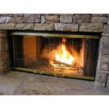 fireplace door glass fleshroxon decoration
