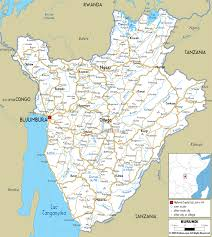 World Map With Cities by Large Road Map Of Burundi With Cities And Airports Burundi