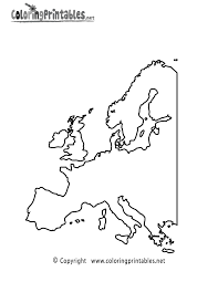 Printable Blank Map Of Europe by Coloring Pages Europe For Kids Printable Print Yourself Maxvision