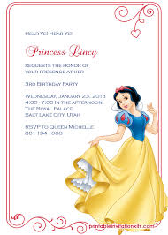 snow white princess birthday invitation wedding invitation