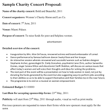 format proposal sponsorship pdf concert proposal template pdf one piece