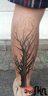 by 2nd skin calf tattoos and search