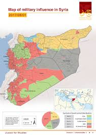 Map Of Syria And Russia Map Of Military Influence In Syria 01 08 2017