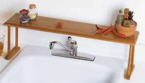 Floating Sink Shelf by Accessories Over The Kitchen Sink Organizer Cool White Wooden