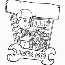 handy manny fixing coloring handy manny fixing