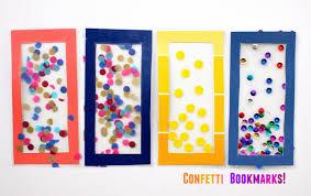 easy kids craft confetti diy bookmarks diycandy com