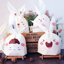 easter rabbits decorations 50pcs set bunny cookies bags wedding decoration lovely easter
