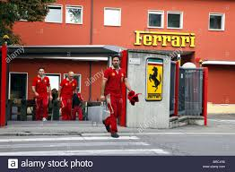 ferrari factory building ferrari workers factory entrance sign maranello maranello italy