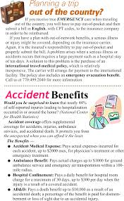 foreign travel coverage u0026 accident benefits