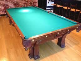 brunswick brighton pool table brunswick balke collender pfister 8 antique pool table