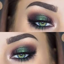 metallic emerald green smokey eye makeup makenziewilder makeup