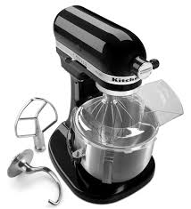 classic kitchen with glossy black kitchen aid professional hd