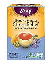 lavender tea yogi tea honey lavender stress relief 16 count