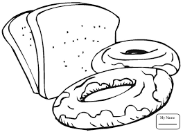 Slices Of Bread Breakfasts Home Housework Breakfasts Coloring Coloring Pages Bread