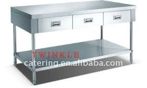 stainless steel work table with shelves stainless steel work bench treenovation