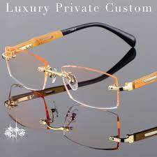 Optical Frame Tagged Glasses Fonex Titanium Eyeglasses Rimless Gold Wood Glasses Frame Prescription