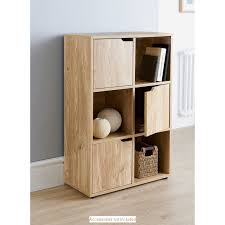 Storage Bookcase With Doors Turin 6 Cube Shelving Unit