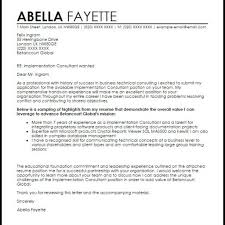 letter internship consulting firm