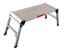fox hunter folding step hop up aluminium work bench platform stage