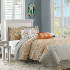 orange and grey bedding sets with more california king