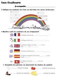 Couleurs En Anglais Francais γαλλικά 1ης γυμνασίου Les Adjectifs De Couleur P 19