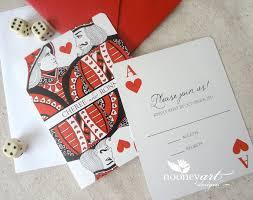 Wedding Cards Invitation Las Vegas Wedding Playing Card Wedding Invitations And Save The