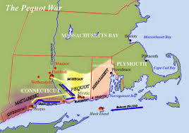 Plymouth England Map by U S Timeline 1637 The Pequot War