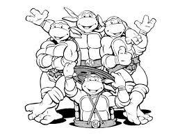 teenage mutant ninja turtles printable coloring pages line