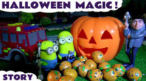 halloween minions magic with gru thomas u0026 friends and tonka trucks