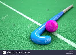 astroturf a 3d rendering of a hockey stick and ball on green astro turf in
